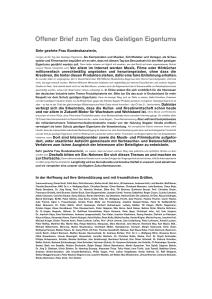 Offener Brief vom Bundesverband der Musikindustrie an Angela Merkel